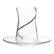 Alisa Altın Çay Takımı (6 Çay Bardağı + 6 Çay Tabağı )