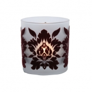 Bordo Kadife Damask Mumluk